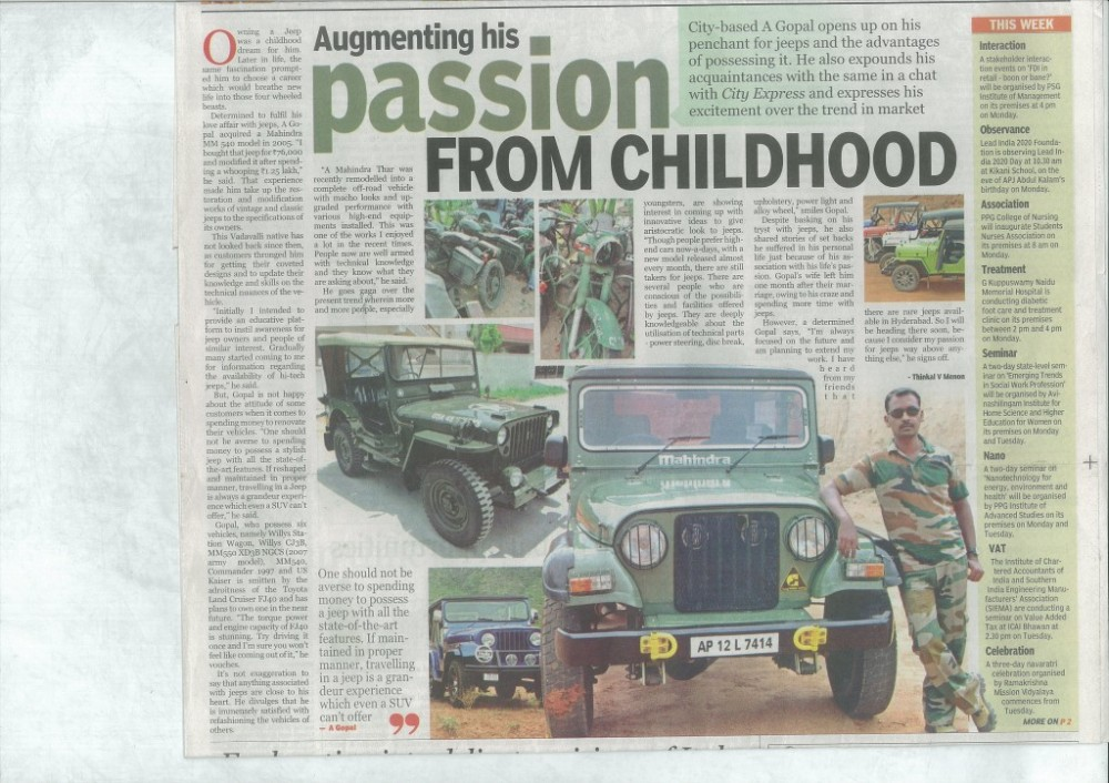 Indian Express article