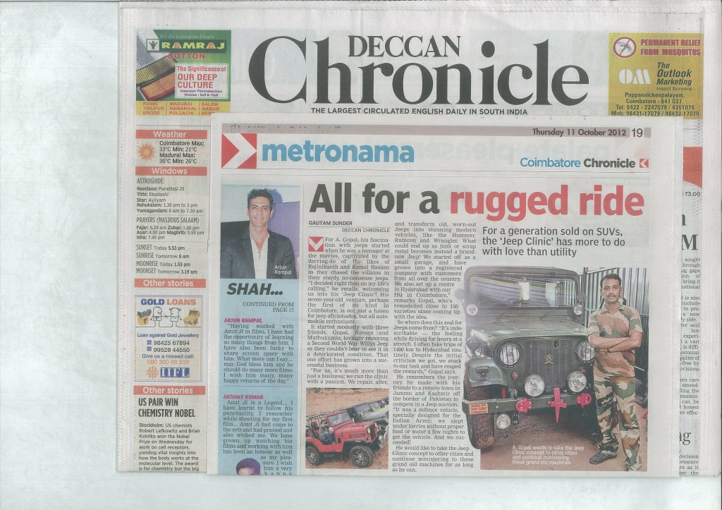 Deccan Chronicle article