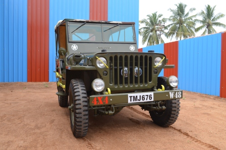 jeepclub coimbatore restored willy cj3a