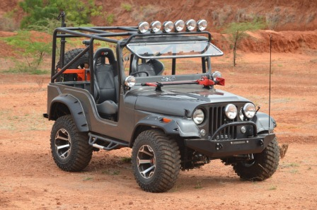Modified mahindra jeep